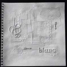 Collage, mixed media BLANC.