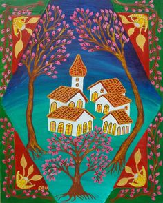 Springtime 40x50 cm naif art