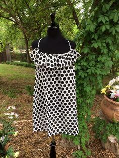 Black And White Polka Dot Dress | Summer fun in polka dots and ruffles | Cheerful Heart Gifts - Granbury, TX