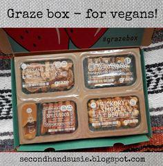 Graze box - for vegans! (Second Hand Susie) Graze Box, Vegans, Honeycomb, Food, Essen, Honeycombs, Meals, Yemek, Honeycomb Pattern