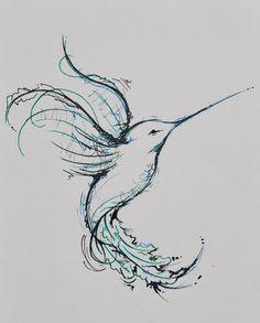 Inspiration for Mel's desihn - Colibri symbole de la joie de vivre et de la…
