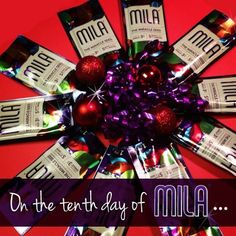 On the tenth day of Mila, add Omega-3s to a holiday dinner when 10 Mila Singles surround your centerpiece. Perfect for sprinkling and sampling!