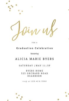 121 Best Graduation Party Invitation Templates images | Graduation ...