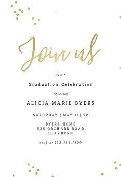 121 Best Graduation Party Invitation Templates Images