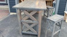 Easy Street Breakfast Bar | Do It Yourself Home Projects from Ana White. Gray finish