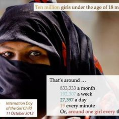 The most exploited creature in the world......The Girl Child!