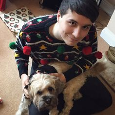 Dan with Colin: SOMEONE PLZ GET THEM A DOG