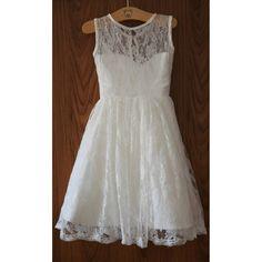High Quality White Lace Flower Girl Dress/Birthday Girl Dress
