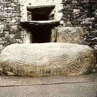 Newgrange, famous passage tomb overlooking the River Boyne, legendary home of the goddess Boann.