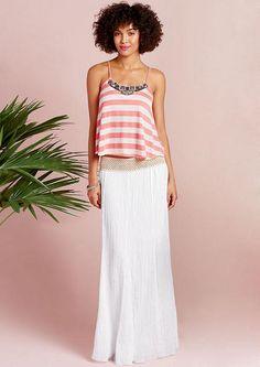 Elan Gauze Maxi Skirt - Skirts - Clothing - Alloy Apparel