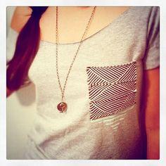 cut the collar off a shirt, sew on a pocket. ta-da!