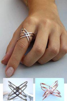 X Ring / Criss Cross Ring / 14K Gold Fill X Ring Sterling Silver X Ring / Thin Silver Ring / X Rings / Christmas Gift by HappyWayJewelry on Etsy https://www.etsy.com/listing/223399533/x-ring-criss-cross-ring-14k-gold-fill-x