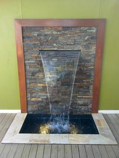 Water Feature Design Ideas - Get Inspired by photos of Water Features from Australian Designers & Trade Professionals - Australia Indoor Waterfall Fountain, Water Wall Fountain, Yard Water Fountains, Outdoor Wall Fountains, Small Garden Features, Indoor Water Features, Modern Water Feature, Backyard Water Feature, Modern Fountain