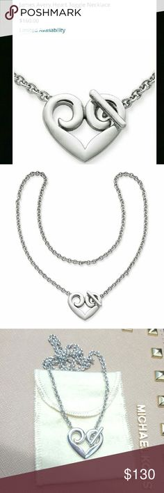 James Avery Heart Toggle Necklace In excellent used condition. Only worn 3 times. Last two pictures are of actual necklace. James Avery Jewelry Necklaces
