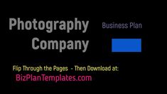 Photography Company Business Plan _ Template, Example, Sample Simple Business Plan Template, Business Plan Example, Sample Business Plan, Financial Business Plan, Financial Planning, Business Planning, Event Planning Checklist, Photography Business, Wedding Photography