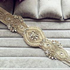 Crystal Sash Rhinestone Sash Belt Wedding belt by LIFEOFLACE