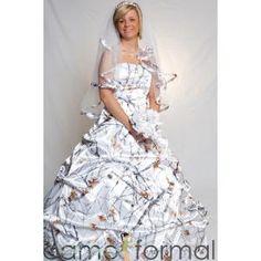 Mossy Oak Winter Camo Wedding Dress