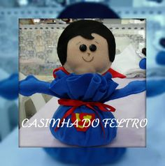 CASINHA DO FELTRO: PESO DE PORTA SUPER HOMEM