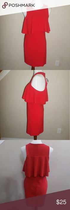 1c0ec956f1a NWT Zara Red Cocktail Dress Size M Brand new Super cute 96% Polyester 4%