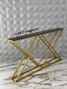 Modern Table, Modern Decor, Bedroom Night Stands, Steel Furniture, Decoration, Console Table, Entryway Tables, Furniture Design, Projects To Try