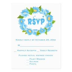 Rustic RSVP Mason Jar Hearts Brown Tan Wedding Postcard