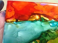 Alcohol Ink Play -- Part 1 - YouTube  ** AWESOME I love this lady  Patti, she works kinda like me. Great, listening to her thought process. Charming.....M