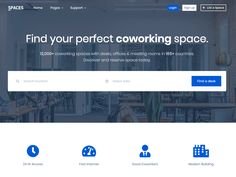 Spaces – Real Estate Coworking Template + Ui Kit - Bootstrap inside Blank Page Template - Best Creative Templates Santa Template, Christmas Card Template, Template Site, Templates, Syllabus Template, Bootstrap Template, How To Make Resume, Decision Tree, Navigation Bar