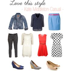 """""""Love this style - Kate Middleton Casual"""" by laura-de-keizer on Polyvore"""