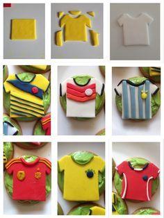 football shirt cupcake topper tutorial - Google Search