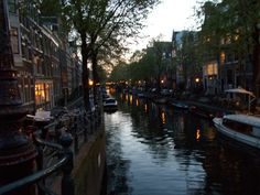 They say there are over 215 canals here... #amsterdam #holland Amsterdam, Holland.