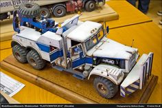 Great detail and painting on a truck model.
