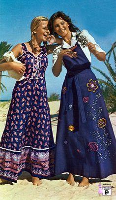1975, looks like Gunnie Sax dresses - they were so popular
