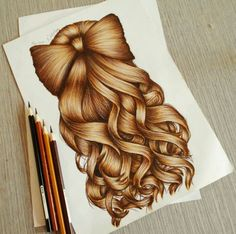 Hair drawing ideas kristina webb New ideas Girly Drawings, Cool Art Drawings, Pencil Art Drawings, Amazing Drawings, Art Drawings Sketches, Realistic Drawings, Colorful Drawings, Art Illustrations, Kristina Webb Art