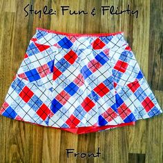 Red White Blue Plaid Made to Order