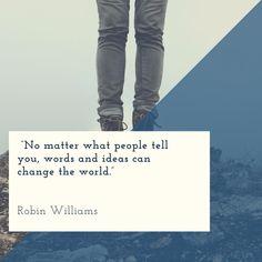 #dreambig #dontquit #inspiringquotes #changetheworld #words #leadgeneration Some Motivational Quotes, Inspirational Quotes, Robin Williams, Daily Motivation, Lead Generation, Optimism, Change The World, Dream Big, Motivationalquotes