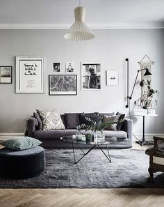 Find your favorite Minimalist living room photos here. Browse through images of inspiring Minimalist living room ideas to create your perfect home. Grey Walls Living Room, My Living Room, Living Room Interior, Home And Living, Living Spaces, Modern Living, Grey Room, Room Decor For Teen Girls, Bohemian Apartment