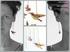 Hummingbird earrings. hummingbirds,