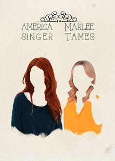 YA Lit Book Meme ♔ seven friendships [2/7]America Singer + Marlee Tames