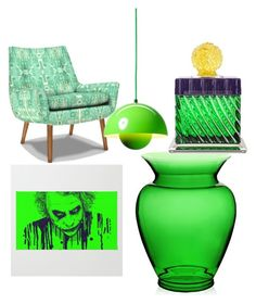 """""""green heaven"""" by zincandcopper on Polyvore featuring interior, interiors, interior design, home, home decor, interior decorating, Jonathan Adler, &Tradition, Kartell and Baldi"""