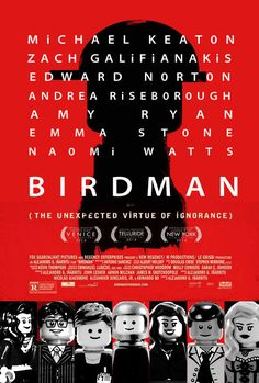 Birdman | 8 Oscar Nominee Posters, Made Better By Lego #birdman #movies