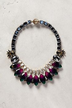 Jewelled Droplet Bib Necklace #anthropologie