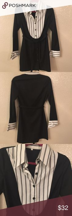 Sexy button down dress! Sexy button down dress!  - fit to body so give you great shape  - it's like button down shirts dress.  - you can wear like formal  - fit like XS to Small  Measurement  - length :32 inches ( from shoulder to hem) - bust : about 17 inches Dresses Mini