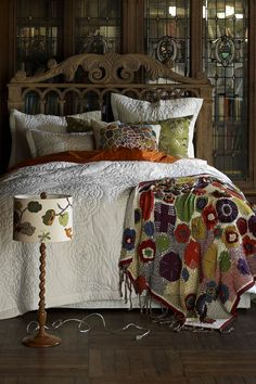 anthropologie bedroom... <3 the stained glass #Anthropologie #PinToWin