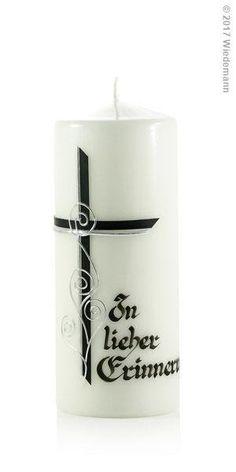 Image for Trauerkerze Kreuz schwarz mit Silberfaden In lieber Erinnerung 200/80mm (Schwarz) Pillar Candles, Easter, Urn, Candle Decorations, Tutorials, Embellishments, Taper Candles, Candles