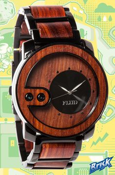 Flud Watches Watch Exchange in Red Wood