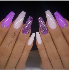 Stunning Nail Art Designs & Images for Ladies – Rosa Pink Nails Nail Art Designs Images, Cute Acrylic Nail Designs, Purple Nail Designs, Coffin Nail Designs, Coffin Nails Designs Summer, Bright Nail Designs, Long Nail Designs, Purple Acrylic Nails, Best Acrylic Nails