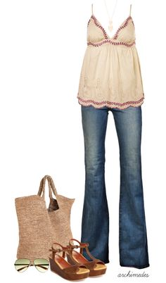 """""""Just a Summer Day"""" by archimedes16 ❤ liked on Polyvore"""