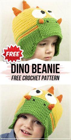 crochet Dino Beanie free pattern : crochet Dino Beanie free pattern – easy crochet beanie pattern for beginners Crochet Jumper, Crochet Beanie Pattern, Baby Knitting Patterns, Crochet Patterns, Crochet Ideas, Hat Patterns, Crochet For Kids, Crochet Baby, Free Crochet