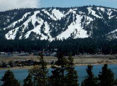 View of San Gorgonio Mountain from Fawnskin, CA - WoodlandTrail