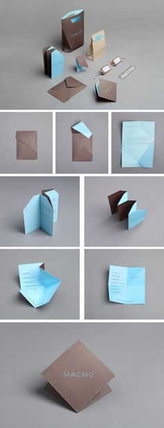 Beautiful yet simple folding to help create a strong and memorable brand identity Corporate Design, Brand Identity Design, Branding Design, Logo Design, Identity Branding, Visual Identity, Brand Packaging, Packaging Design, Web Design